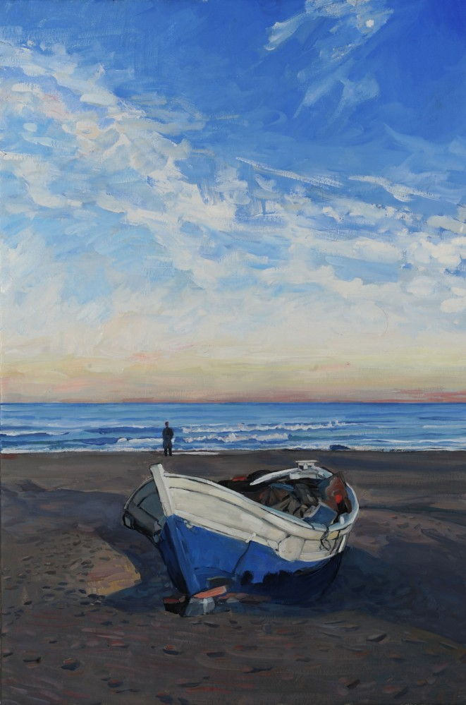 Hector McDonnell Fishing Boat on the Beach Valencia