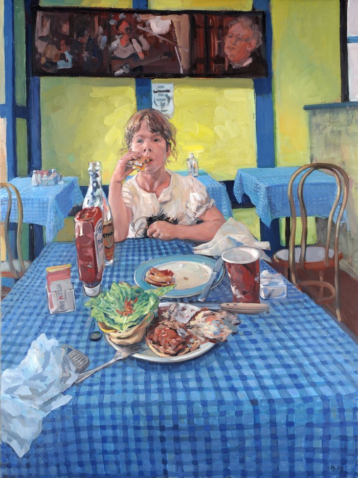 Hector McDonnell Rose in a Cold Spring Cafe