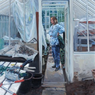 Hector McDonnell Woman in Glasshouse 2005