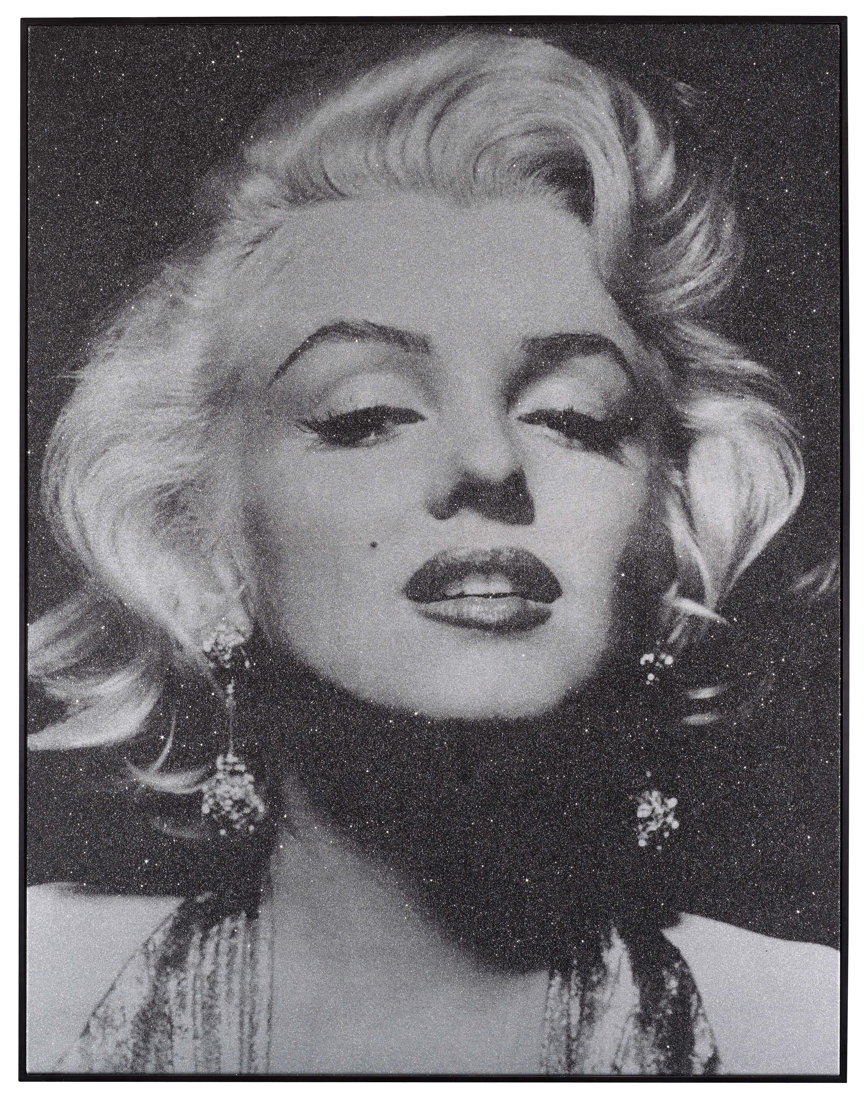 Acrylic Enamel Paint >> Russell Young Marilyn Portrait Close Up (Atomic Silver and ...