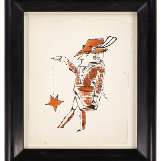 Andy Warhol - Man with Star on a String (Framed)