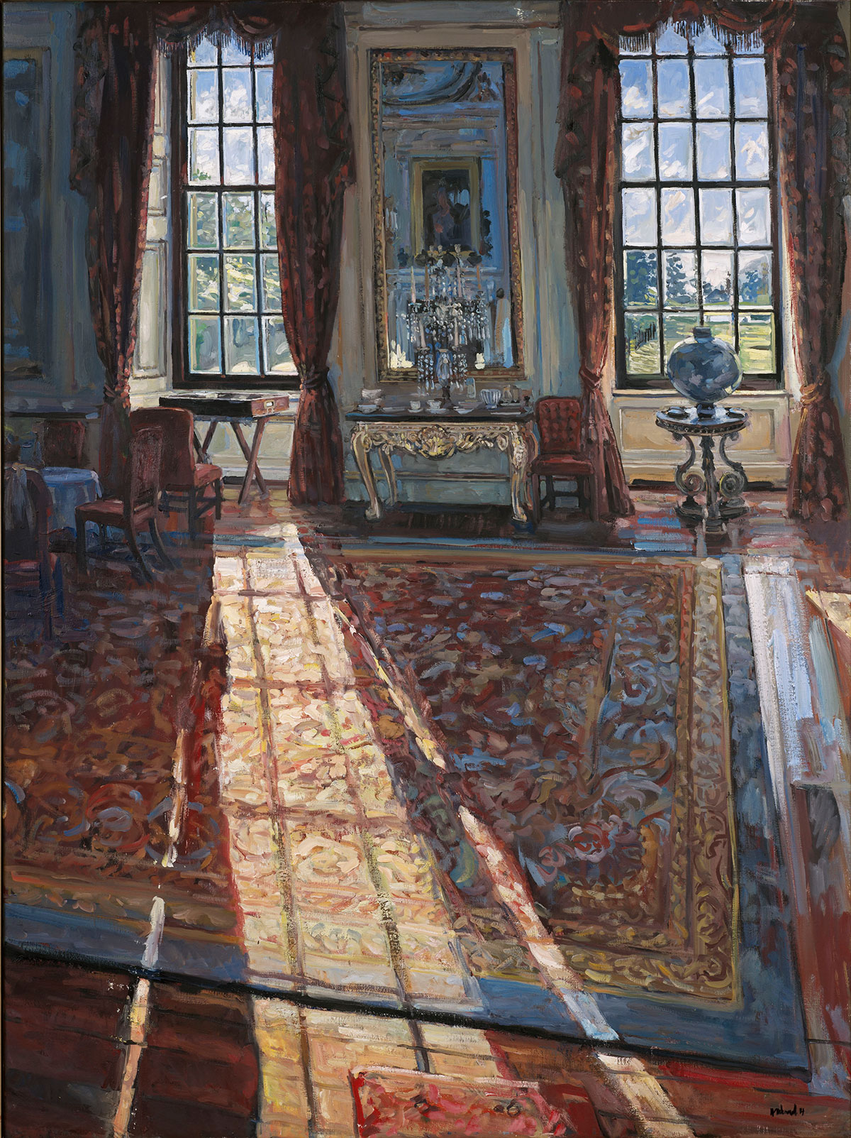 Chatsworth House Room: Sunlight In The Private Dining Room