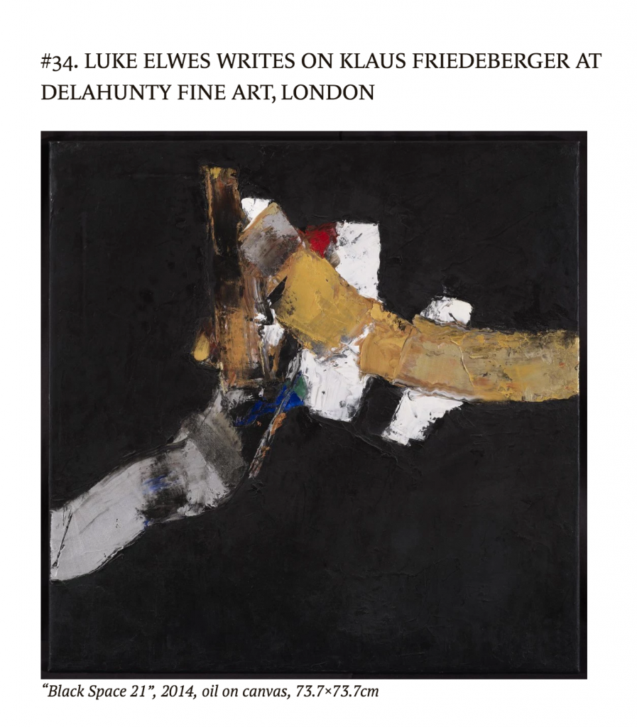 luke elwes writes on klaus friedeberger
